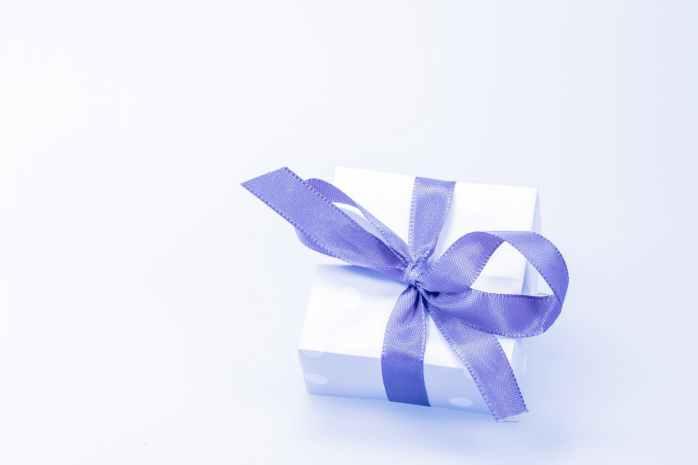blue festival gift decoration