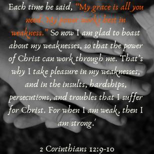 2 Cor 12.9-10