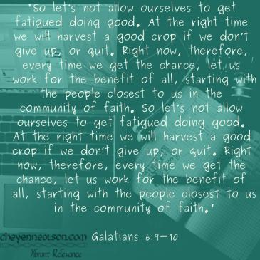 Galatians 6_9-10
