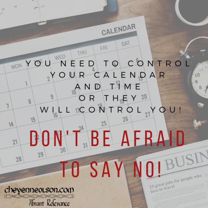 Don't be afraid to say NO!